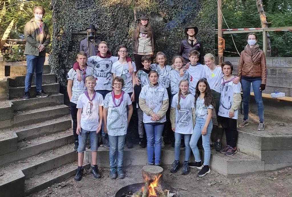 groepsfoto scouts